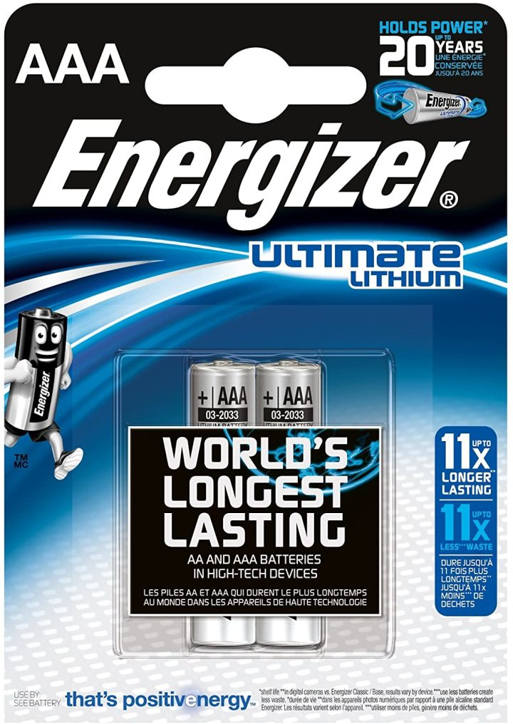 Energizer Ultimate Lithium AAA 2-pack